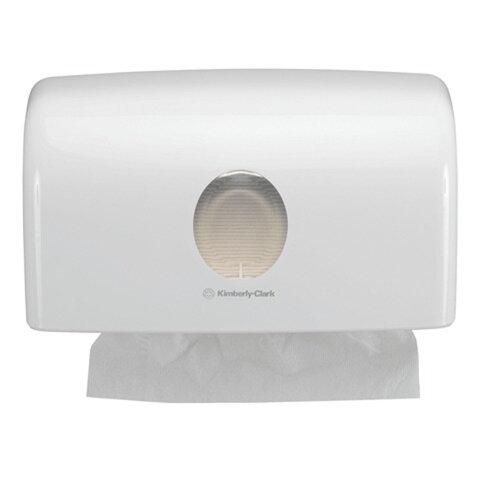 Диспенсер для полотенец KIMBERLY-CLARK Aquarius, Interfold, белый, полотенца 126118, 126115, 126116, 126117, АРТ. 6956