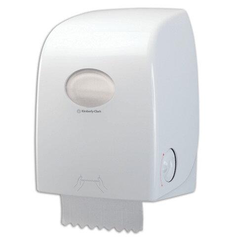Диспенсер для полотенец в рулонах бесконтактный KIMBERLY-CLARK Aquarius, Slimroll, белый, полотенца 126123, 126122, АРТ.6959