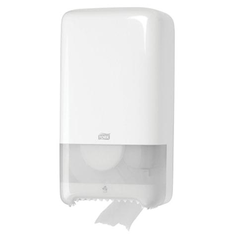 Диспенсер для туалетной бумаги TORK (Система T6) Elevation, midi, белый, бумага 126135, 557500
