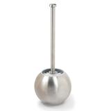 Ерш для унитаза ЛАЙМА, с подставкой в форме шара, нержавеющая сталь, матовый