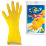 Перчатки хозяйственные латексные DR.CLEAN (Доктор Клин), без х/<wbr/>б напыления, размер L (большой)