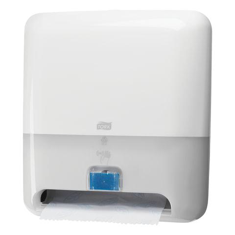 Диспенсер для полотенец TORK (Система H1) Matic, в рулонах, СЕНСОРНЫЙ, элемент питания R20, белый, 551100