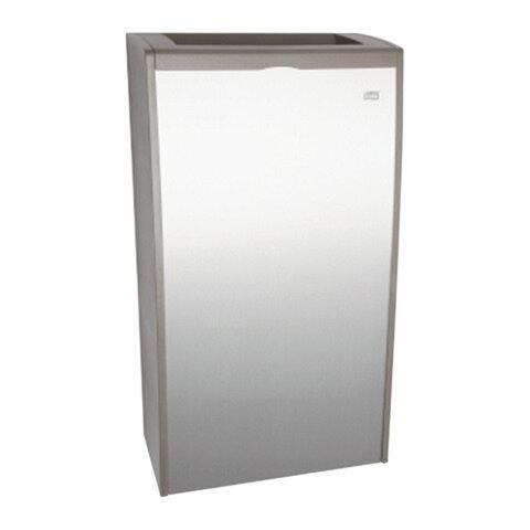 Контейнер для мусора, 40 л, TORK (Система B1) Aluminium, 67,8×37,3×19,3 см, без крышки, 458000