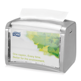 Диспенсер для салфеток TORK (Система N4) Xpressnap, настольный, серый, салфетки 126507, 272613