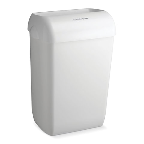 Контейнер для мусора, 43 л, KIMBERLY-CLARK Aquarius, белый, 56,9х42,2х29 см, без крышки