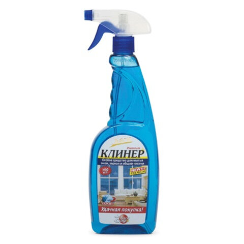 Средство для мытья стекол BAGI КЛИНЕР, 750 мл, распылитель