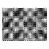 Коврик входной пластиковый грязезащитный «Травка», 560×420 мм, толщина 10 мм, серый-черный