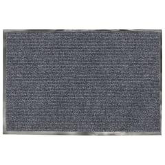 Коврик входной ворсовый влаго-грязезащитный VORTEX, 60×40 см, толщина 7 мм, серый