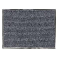 Коврик входной ворсовый влаго-грязезащитный VORTEX, 90×120 см, толщина 7 мм, серый
