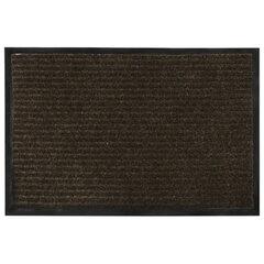 Коврик входной ворсовый влаго-грязезащитный VORTEX, 60×40 см, толщина 7 мм, коричневый