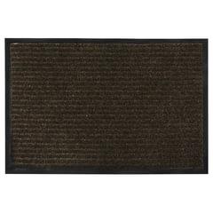 Коврик входной ворсовый влаго-грязезащитный VORTEX, 90×60 см, толщина 7 мм, коричневый
