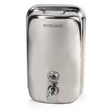 Диспенсер для жидкого мыла ЛАЙМА, наливной, 1 л, нержавеющая сталь, мыло 600189-190, 601431-433