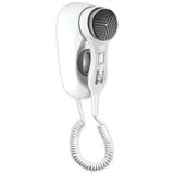Фен для волос, стационарный, настенный KSITEX F-1400 WC, 1400 Вт, пластик с металлом, белый