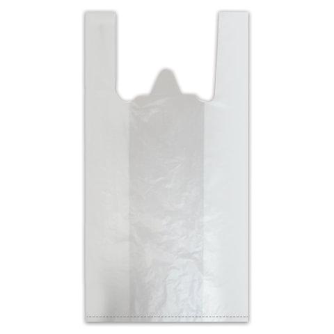 """Пакеты """"майка"""", комплект 100 шт., ПНД, 38+18х68 см, 18 мкм"""