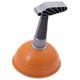 Вантуз для раковин и ванн, диаметр 13 см, высота 20 см, оранжевый