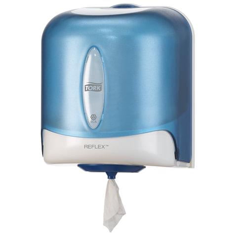 Диспенсер для полотенец/<wbr/>бумаги TORK (M4) Reflex с центральной вытяжкой, голубой, полотенце 126739, 473133