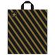 Пакет с петлевой ручкой ПВД, 42×38 см, «Золотая полоса», 43 мкм