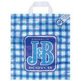 Пакет с петлевой ручкой ПНД, 42×38 см, «J&B синий», 37 мкм