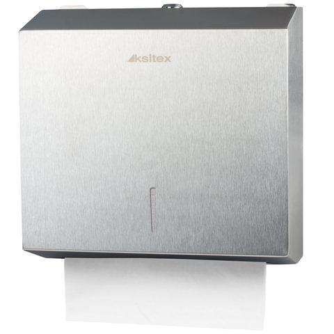 Диспенсер для полотенец KSITEX, ZZ (V), нержавеющая сталь, матовый, полотенца 124556, -57, 126094-095