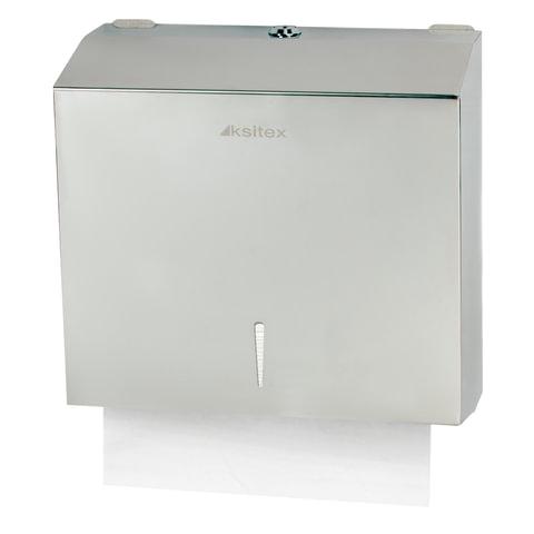Диспенсер для полотенец KSITEX, ZZ (V), нержавеющая сталь, зеркальный, полотенца 124556, -57, 126094-095
