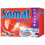 Средство для мытья посуды в посудомоечных машинах SOMAT «All-in-1» (Сомат «Всё-в-1»), 28 шт., таблетки