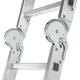 Лестница-трансформер 4×3 ступени, высота 3,48 м (4 секции по 0,94 м), алюминиевая, вес 14,5 кг