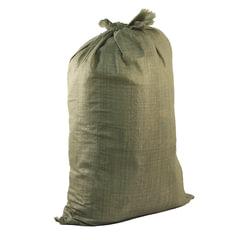 Мешки полипропиленовые до 50 кг, комплект 100 шт., 95×55 см, вес 47 г, для строительного/<wbr/>бытового мусора, зеленые