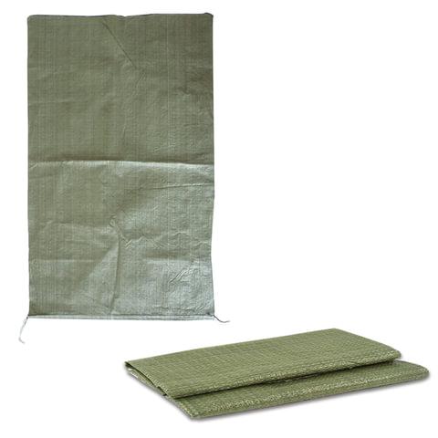 Мешки полипропиленовые до 50 кг, комплект 100 шт., 95×55 см, для строительного/<wbr/>бытового мусора, без вкладыша, зеленые