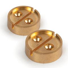 Опечатывающее устройство под нить/<wbr/>проволоку, плашка на 1 печать, комплект 2 шт., диаметр 27 мм, латунь