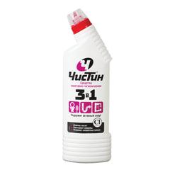 Средство для уборки туалета 750 г, ЧИСТИН «3 в 1», содержит активный хлор