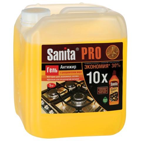 Средство для чистки плит, духовок, грилей от жира/<wbr/>нагара SANITA (Санита), 5 кг, «Гель Антижир»