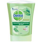Картридж с жидким мылом DETTOL (Детол), 250 мл, «Зеленый чай и имбирь», антибактериальный, диспенсер 601998