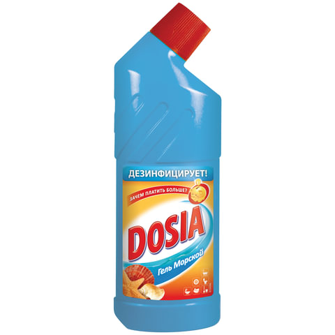 Чистящее средство DOSIA (Дося), 750 мл, «Морской», с дезинфицирующим и отбеливающим эффектом
