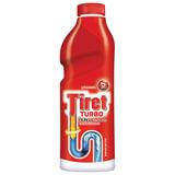 Средство для прочистки канализационных труб TIRET Turbo (Тирет Турбо), 1000 мл, гель