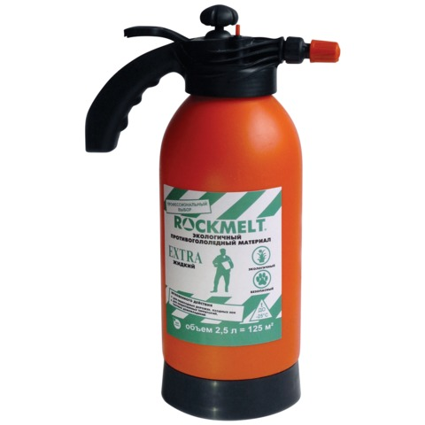 Реагент антигололедный жидкий 2,5 л, ROCKMELT Extra («Рокмелт Экстра»), канистра с распылителем, до -25С