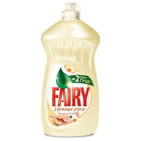 Средство для мытья посуды FAIRY (Фейри), 500 мл, «Ромашка и витамин Е»