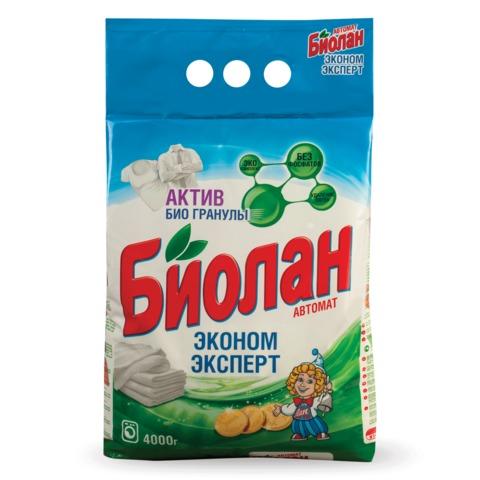 Стиральный порошок-автомат 4 кг, БИОЛАН «Эконом Эксперт» (Нэфис Косметикс)