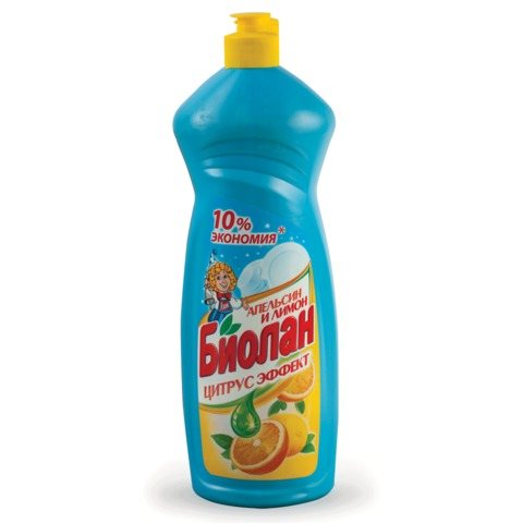 """Средство для мытья посуды 1 л, БИОЛАН """"Апельсин и лимон"""""""