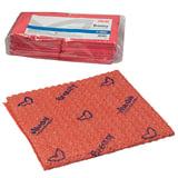Салфетка VILEDA «Бризи», комплект 25 шт., объемное микроволокно, красная, 35×35 см