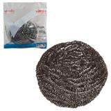 Губка металлическая VILEDA «Инокс», для стойких загрязнений, нержавеющая сталь, вес 40 г