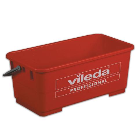 Ведро для мытья окон VILEDA, высокопрочный пластик, прямоугольное, размер 27х47х20 см, объем 22 л