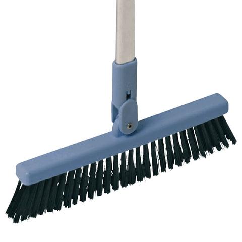 Щетка VILEDA для совка «Леголенд», ширина 25 см, высота щетины 9 см, алюминиевая ручка 90 см (совок 602137)