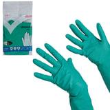 Перчатки хозяйственные нитриловые VILEDA, универсальные, антиаллергенные, размер XL (очень большой), зеленые