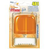 Освежитель WC (для туалета) жидкий 55 мл, ТУАЛЕТНЫЙ УТЕНОК «Цитрусовый бриз»