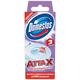 Освежитель/<wbr/>очиститель для унитаза/<wbr/>писсуара DOMESTOS Attax (Аттакс), 3 шт. х 10 г, «Цветочная свежесть», стикер