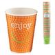 Одноразовые стаканы «Хухтамаки», комплект 40 шт., бумажные двухслойные, 300 мл, «Enjoy», цветная печать, для холодного/<wbr/>горячего