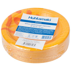 Одноразовые тарелки «Хухтамаки», комплект 50 шт., картон, диаметр 180 мм, «Whizz», для холодного/<wbr/>горячего
