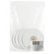 Лента обвязочная атласная для прошивки документов, ширина 6 мм, 4×25 м (100 м), +/<wbr/>- 5%, белая