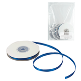 Лента обвязочная атласная для прошивки документов, ширина 6 мм, 4×25 м (100 м), +/<wbr/>- 5%, синяя
