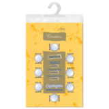 Скатерть бумажная ламинированная ASTER «Creative», 120×200, желтая, эффект шелка, Бельгия
